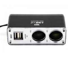 5V/1A Double USB Port 2 Way Auto Cigarette Lighter Socket