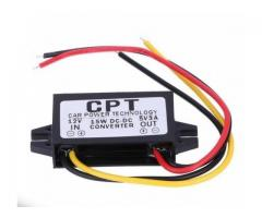 DC 12V To DC 5V 3A 15W Auto Car Power Converter