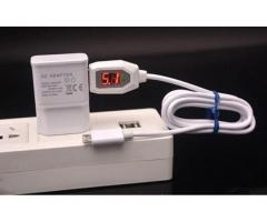 Micro USB Data Syn Charging Cable Digital Indicator