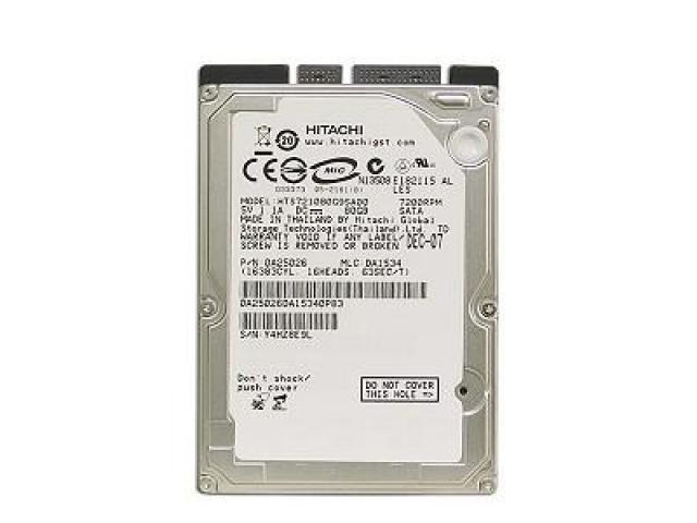 "HDD 2.5"" 80GB HITACHI SATA - 1/1"
