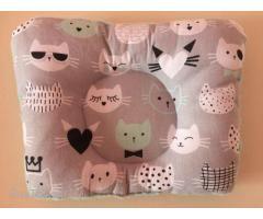 Подушка для новорожденных с плюшевой тканью