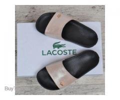 Шлепанцы женские кожаные Lacoste 36 размера