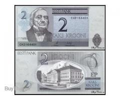 Банкноты 2 эстонские кроны