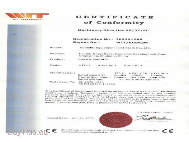 21-32-131 Электрогидравлический подъёмный стол U-формы NH HTF-U - 3/4